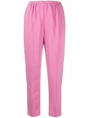 Зауженные брюки с эластичным поясом Forte. Цвет: розовый