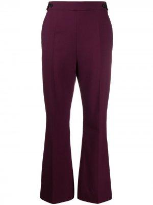 Расклешенные брюки с завышенной талией Marni. Цвет: фиолетовый