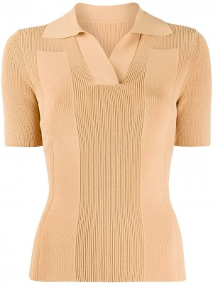 Трикотажная рубашка поло Jacquemus. Цвет: желтый