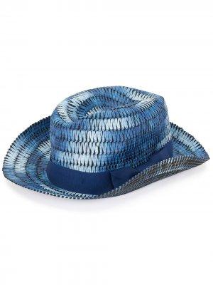 Плетеная шляпа PAUL SMITH. Цвет: синий