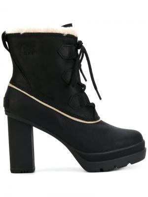 Ботильоны на шнуровке Sorel. Цвет: чёрный