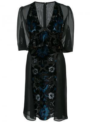 Платье с бархатной отделкой Arabesque Anna Sui. Цвет: чёрный