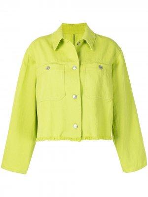Куртка с бахромой MSGM. Цвет: зеленый
