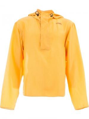 Легкая куртка с капюшоном Wales Bonner. Цвет: желтый