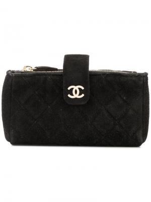 Стеганая косметичка Chanel Vintage. Цвет: черный