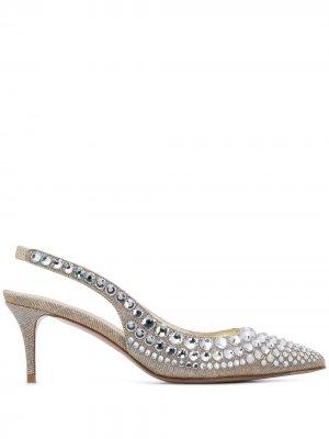 Туфли Mabel с ремешком на пятке Le Silla. Цвет: серебристый