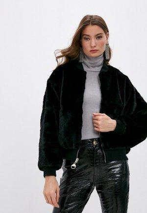 Шуба Chiara Ferragni Collection. Цвет: черный