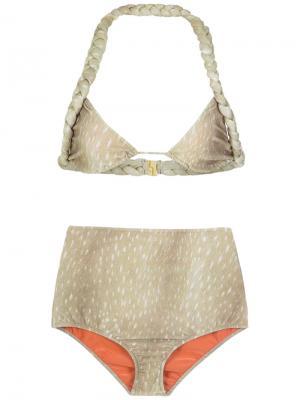 Velvet hot pants bikini set Adriana Degreas. Цвет: нейтральные цвета