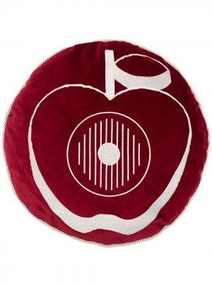 Подушка с принтом UNDERCOVER. Цвет: красный