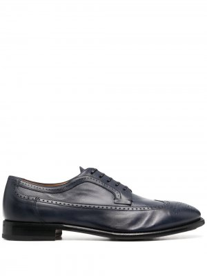 Броги на шнуровке Silvano Sassetti. Цвет: синий