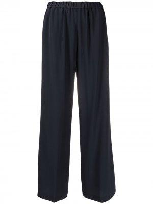 Укороченные брюки с драпировкой Aspesi. Цвет: синий