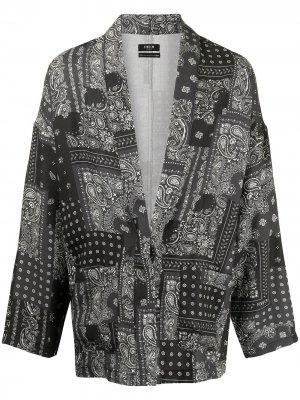Жакет-кимоно с принтом пейсли FIVE CM. Цвет: черный