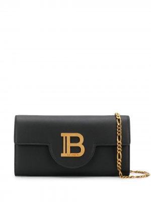 Клатч с логотипом B Balmain. Цвет: черный