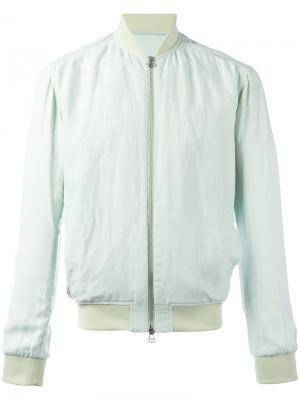 Классическая куртка-бомбер Qasimi. Цвет: зеленый