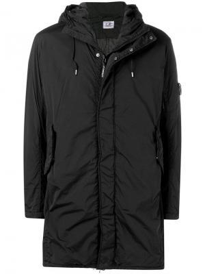 Hooded midi jacket CP Company. Цвет: черный