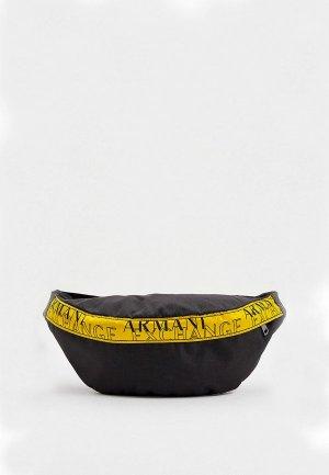 Сумка поясная Armani Exchange. Цвет: черный