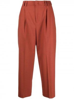 Укороченные зауженные брюки Pt01. Цвет: оранжевый