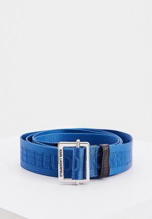 Ремень Karl Lagerfeld. Цвет: синий