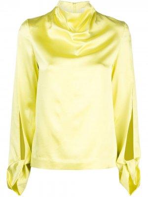 Блузка с высоким воротником Dion Lee. Цвет: желтый