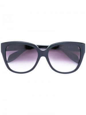 Объемные солнцезащитные очки Alexander McQueen Eyewear. Цвет: черный