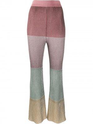Укороченные расклешенные брюки Marco De Vincenzo. Цвет: розовый