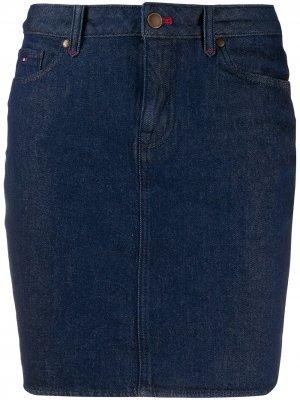 Облегающая джинсовая юбка Tommy Hilfiger. Цвет: синий