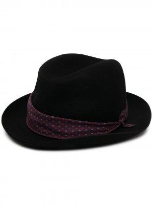 Шляпа-федора Paul Smith. Цвет: черный