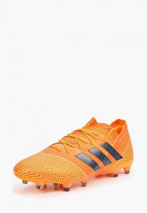 Бутсы adidas. Цвет: оранжевый