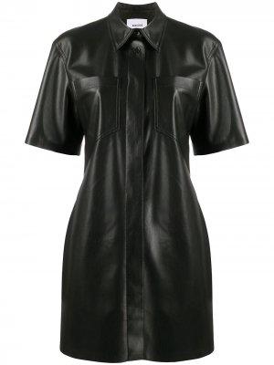 Платье-рубашка Berto Nanushka. Цвет: черный