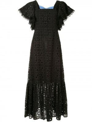 Платье Camryn с английской вышивкой Sachin & Babi. Цвет: черный
