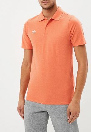 Поло Umbro. Цвет: оранжевый