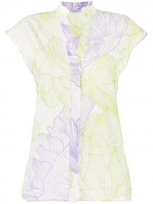 Блузка с цветочным принтом Malo. Цвет: фиолетовый