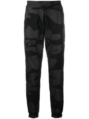 Спортивные брюки с лампасами Hydrogen. Цвет: черный