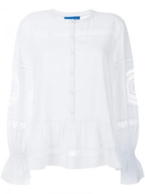 Блузка Romney Mih Jeans. Цвет: белый
