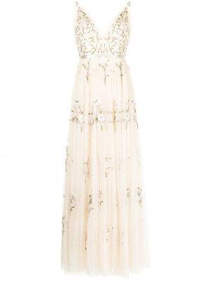 Платье Petunia без рукавов Needle & Thread. Цвет: champagne