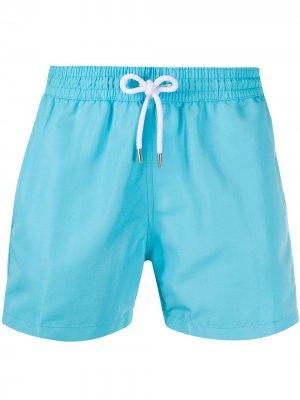 Плавки-шорты с кулиской Frescobol Carioca. Цвет: синий
