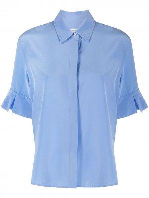 Крепдешиновая рубашка Equipment. Цвет: синий