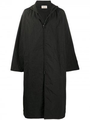 Пальто с капюшоном и логотипом Fear Of God. Цвет: черный