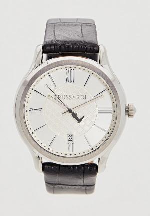 Часы Trussardi. Цвет: черный