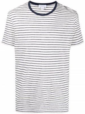 Полосатая футболка с короткими рукавами Sunspel. Цвет: белый