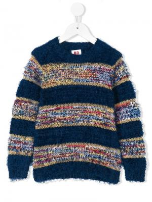 Ворсистый свитер American Outfitters Kids. Цвет: синий