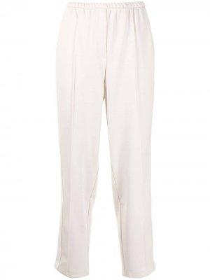 Зауженные брюки с лампасами GOODIOUS. Цвет: белый