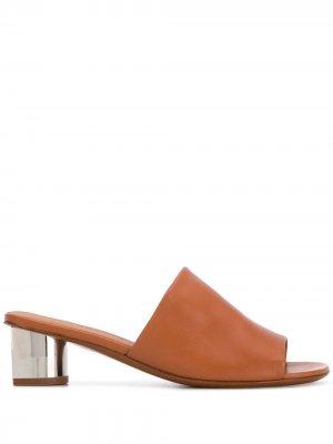 Мюли Lea 50 с открытым носком Clergerie. Цвет: коричневый
