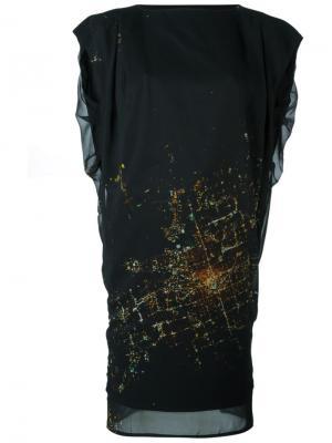 Платье Zany Minimarket. Цвет: черный