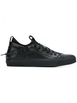 Кроссовки на шнуровке Bruno Bordese. Цвет: черный