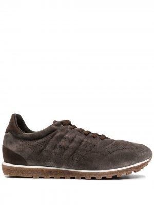Кроссовки на шнуровке Alberto Fasciani. Цвет: коричневый