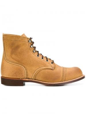 Классические сапоги со шнуровкой Red Wing Shoes. Цвет: коричневый