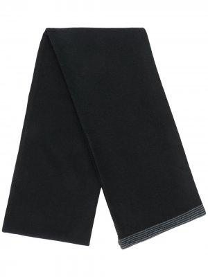 Трикотажный шарф с контрастными полосками Société Anonyme. Цвет: черный