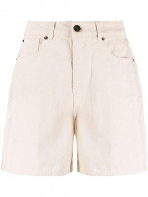 Джинсовые шорты с завышенной талией Semicouture. Цвет: нейтральные цвета