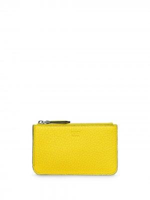 Ключница с логотипом Fendi. Цвет: желтый